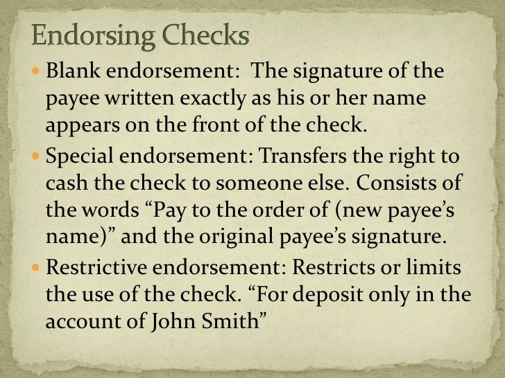 How Do You Endorse a Check to Someone Else?