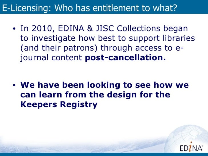 licence registry entitlement history       OpenURL Router                                         Thoughts about a UK     ...
