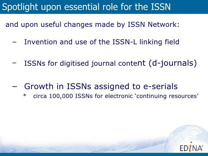 ISSNs assignedto online'continuingresources'by country