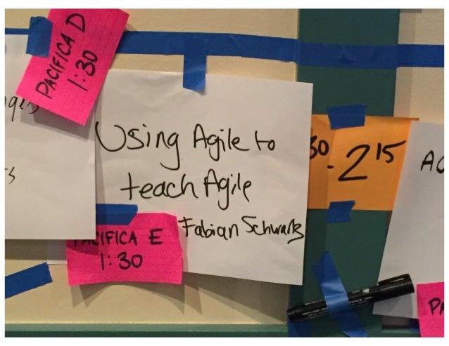 Using Agile to Teach Agile