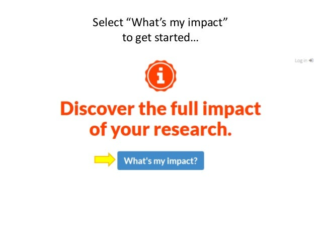 """Select """"Uncover my impact"""":"""