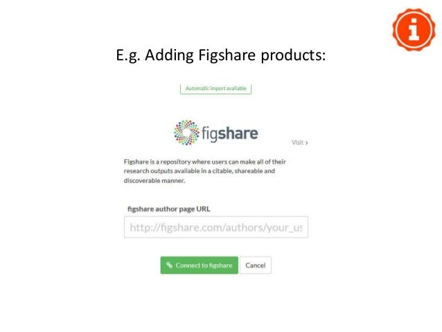 E.g. Adding your Slideshare products: