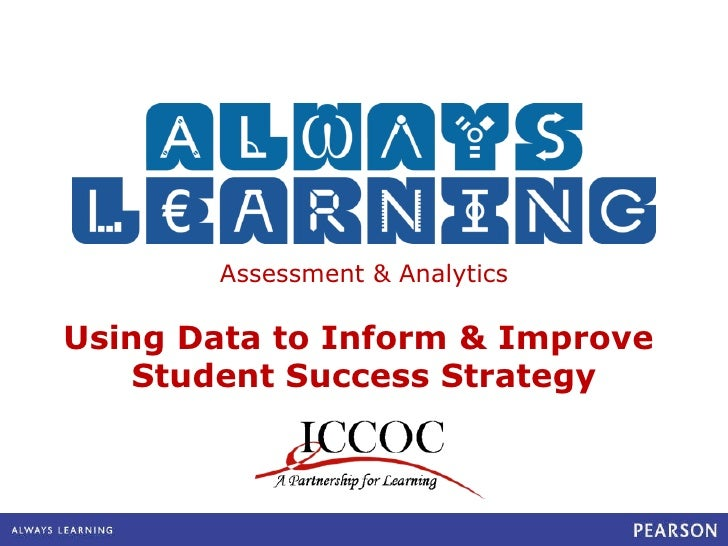 Assessment & Analytics Using Data to Inform & Improve  Student Success Strategy