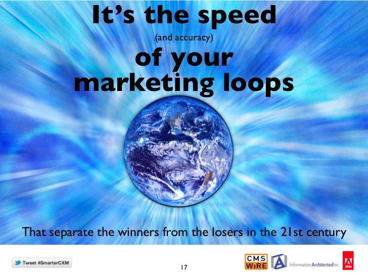 It's the speed                        (and accuracy)            of your         marketing loopsThat separate the winners f...
