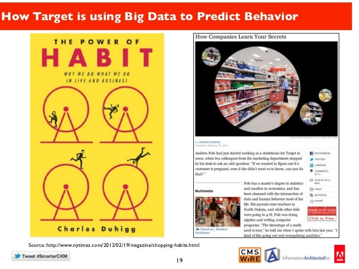 How Target is using Big Data to Predict Behavior    Source: http://www.nytimes.com/2012/02/19/magazine/shopping-habits.htm...