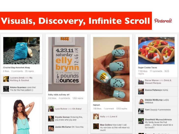 Visuals, Discovery, Infinite Scroll                   39