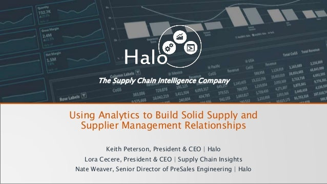 Using Analytics to Build Solid Supply and Supplier ...