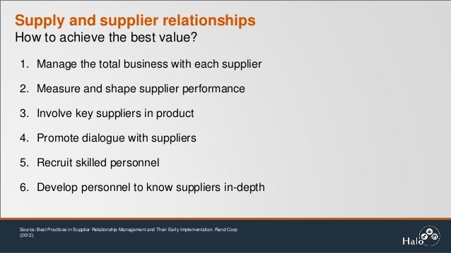 building deep supplier relationship How to build personal relationships with customers: what is crm 'if we can build a relationship where they know who we are, they like what we can do.