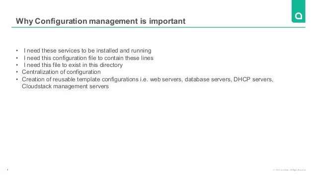 Using ansible to manage cloud stack Slide 3