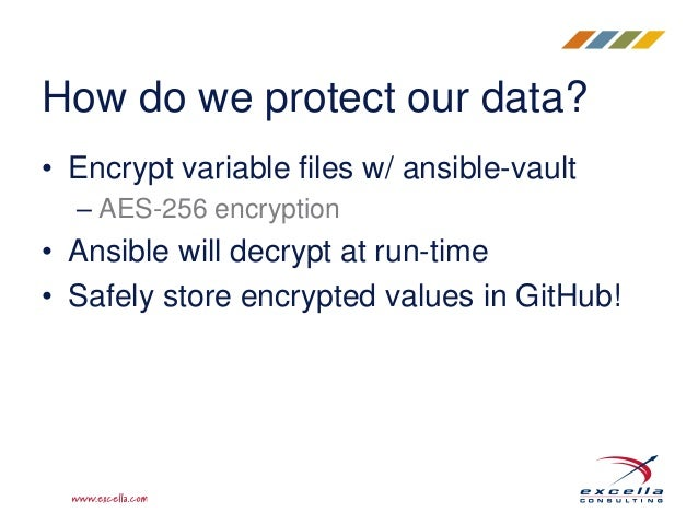 Using ansible vault to protect your secrets