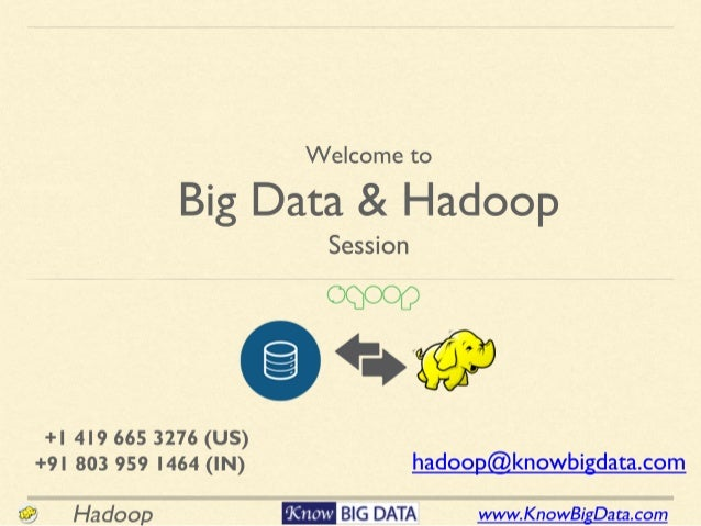 www.KnowBigData.comHadoop • Interact - Ask Questions • Lifetime access of content • Class Recording • Cluster Access • 24x...