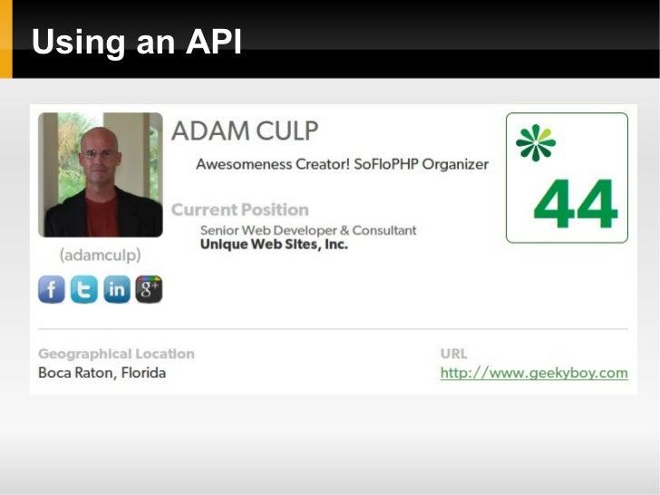 Using an API
