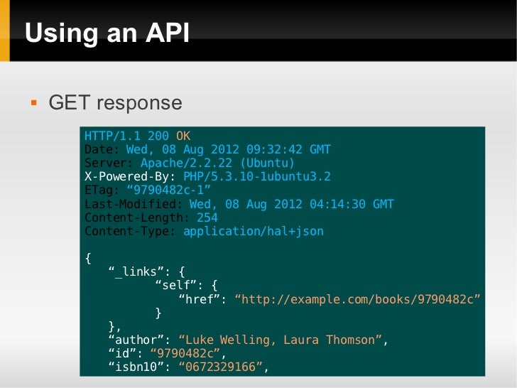 how to create an api in php