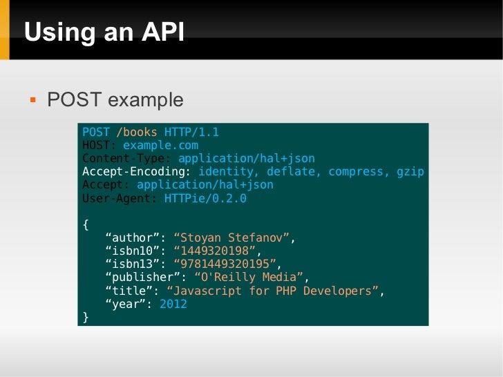 how to create an api using php