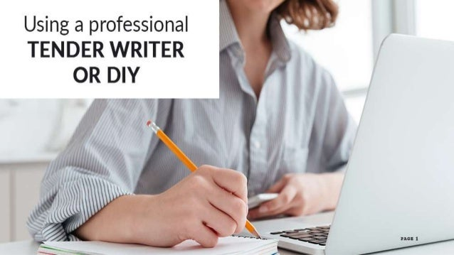 using a professional tender writer or diy 1 638