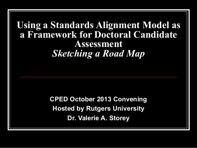 Using a Standards Alignment Model as a Framework for Doctoral Candidate Assessment Sketching a Road Map  CPED October 2013...