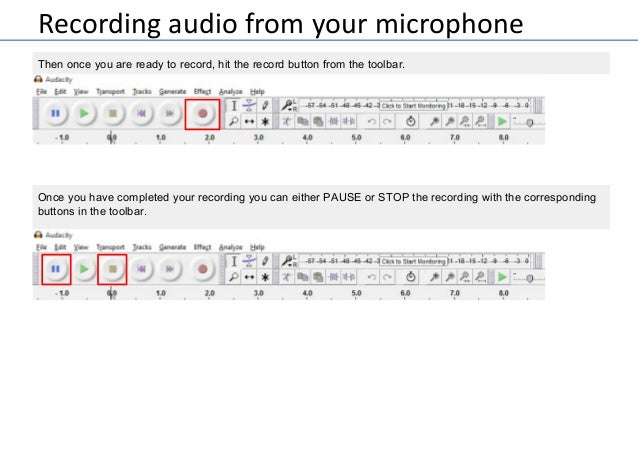 Using Audacity for audio recordings