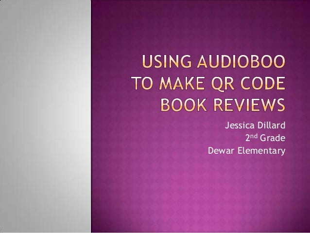 Using Audioboo to Make QR Code Book Reviews