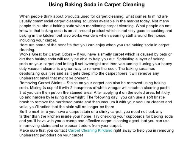 Bicarbonate Of Soda To Clean Rug Carpet Vidalondon