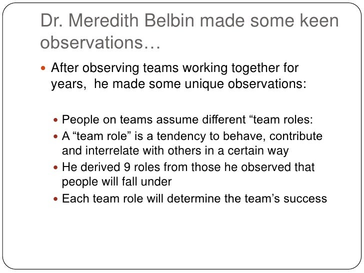 Team Role Belbin Home Inventory