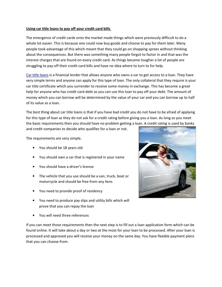 Can A Title Loan Company Take Your Car