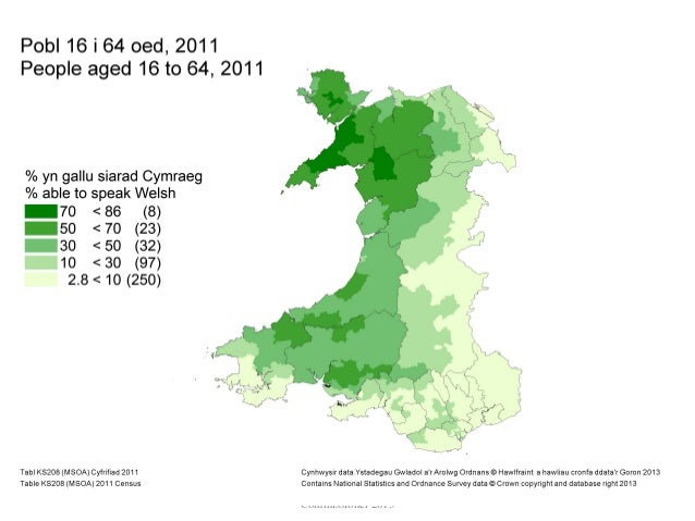 Using Census Data To Analyse The Intergenerational Transmission Of Th - World map in welsh language