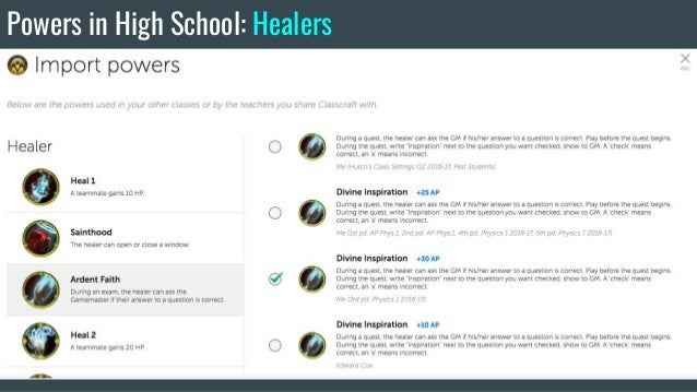 Classroom Gamification for High School Students