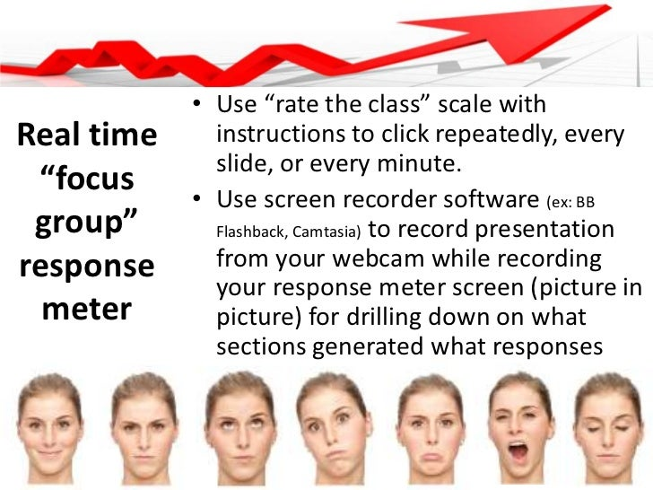 """Use """"rate the class"""" scale with instructions to click repeatedly, every slide, or every minute.<br />Use screen recorder s..."""