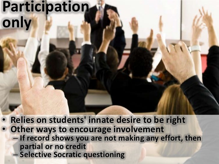 Participation only<br />Relies on students' innate desire to be right<br />Other ways to encourage involvement<br />If rec...
