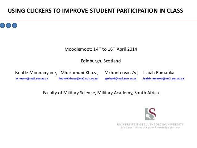 Moodlemoot: 14th to 16th April 2014 Edinburgh, Scotland Bontle Monnanyane, Mhakamuni Khoza, Mkhonto van Zyl, Isaiah Ramaok...