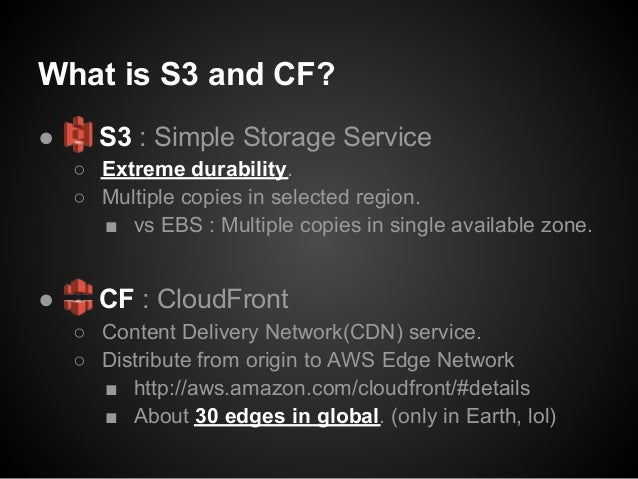 Using AWS CloudFront with S3 at SMARTSTUDY Slide 2