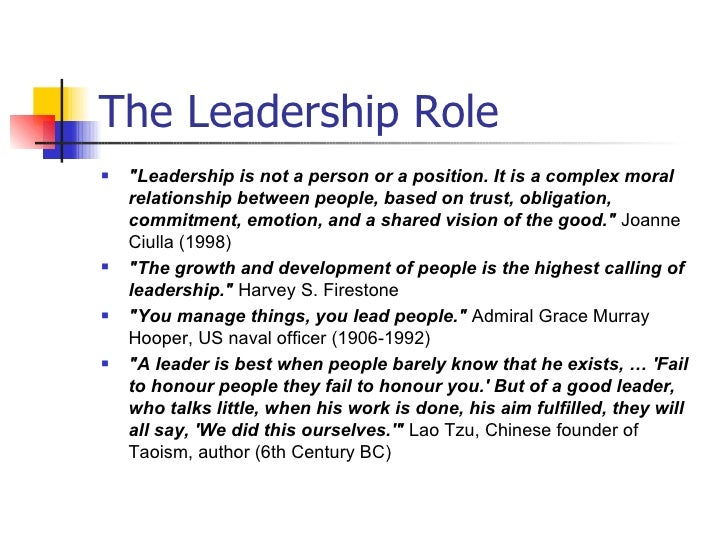 leadership and calling the role of Nursing is a call to leadership by its very nature, the professional nurse role is  one of leadership across the healthcare continuum, regardless.