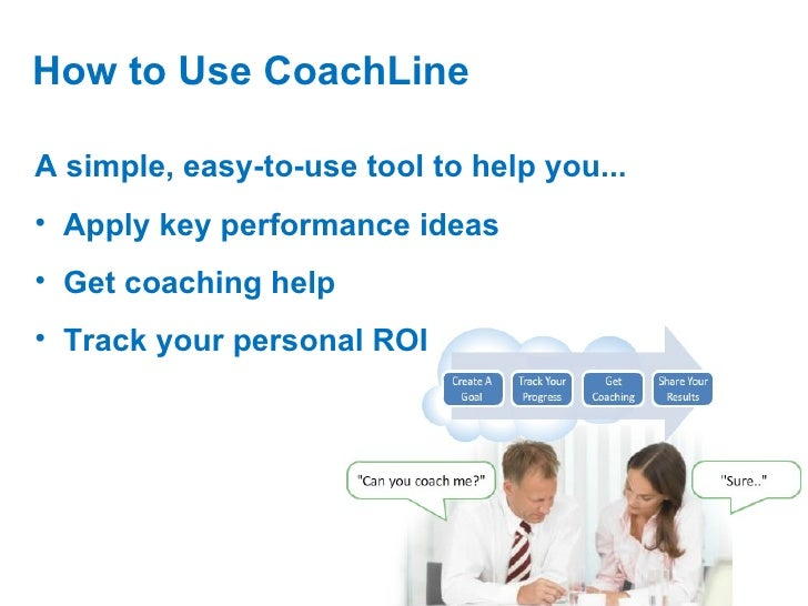How to Use CoachLine <ul><li>A simple, easy-to-use tool to help you... </li></ul><ul><li>Apply key performance ideas </li>...