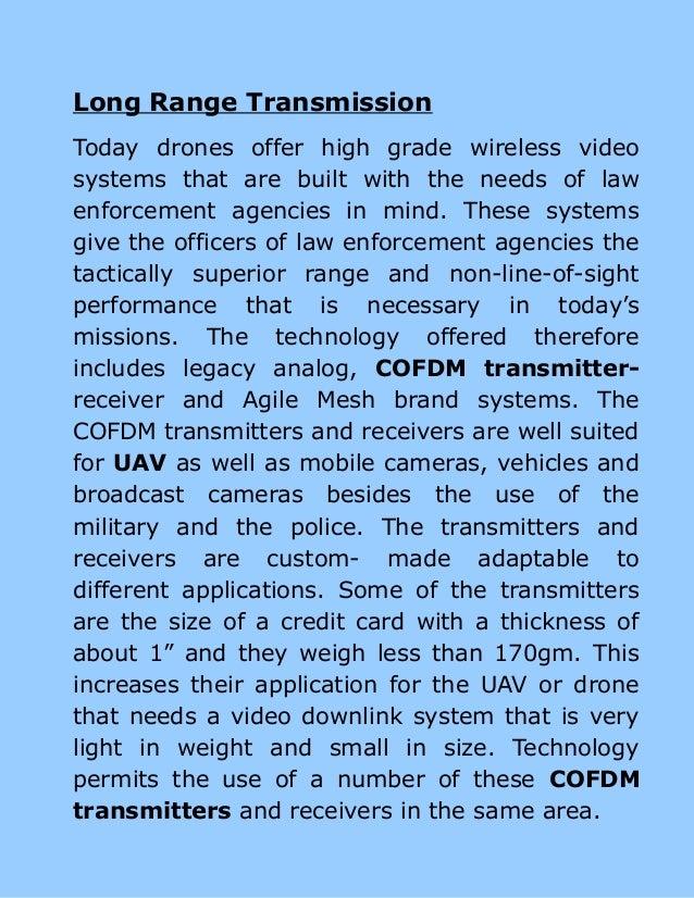 Using cofdm transmitter in a drone Slide 3