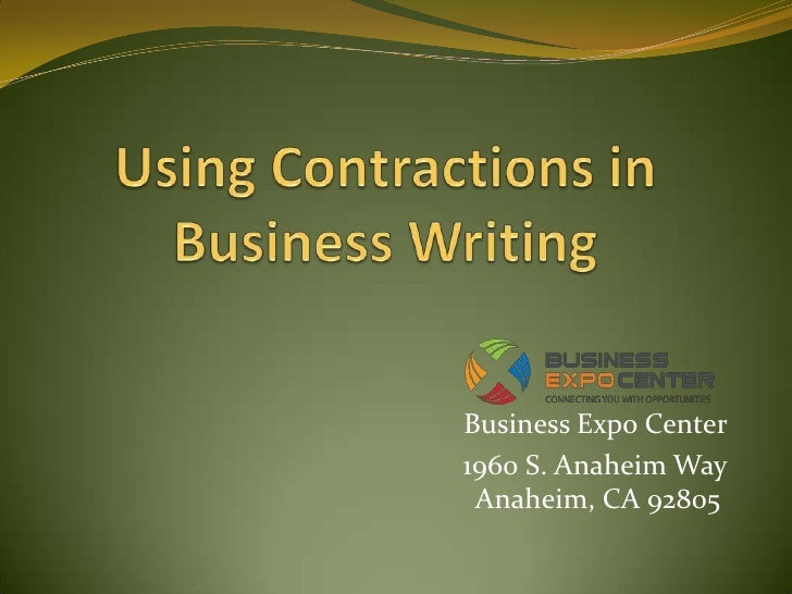 Using Contractions in Business Writing