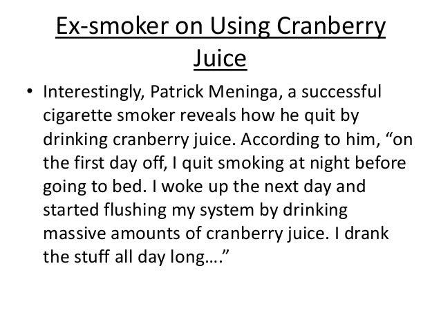 Using Cranberry Juice To Stop Smoking