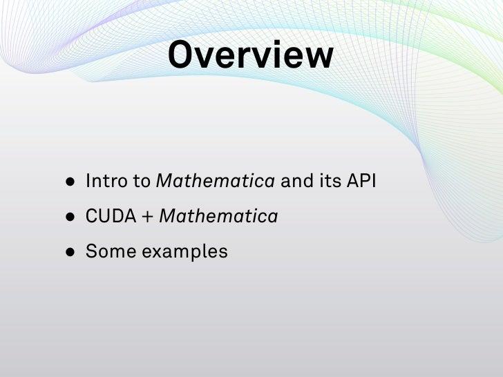 Using Cuda Within Mathematica Slide 2
