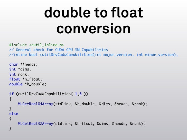 Using CUDA Within Mathematica