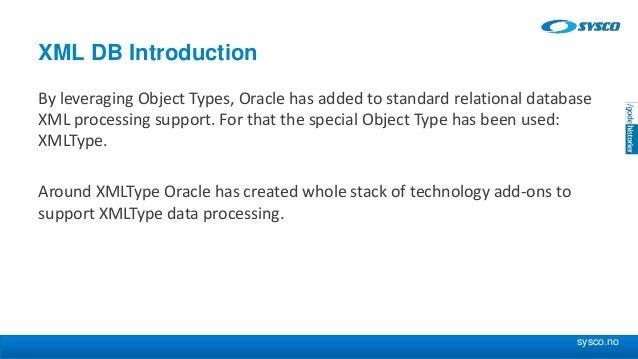 Using database object relational storage