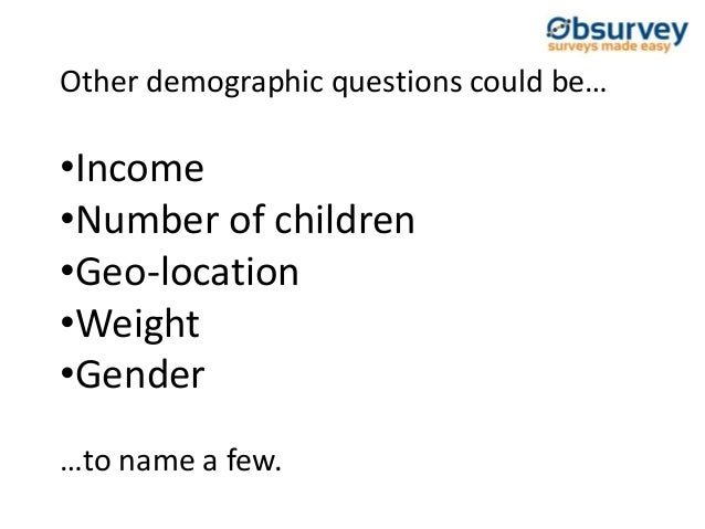 demographic data interpretation Characteristics of data quality are based on 4 domains: data  for the meaningful interpretation of test results—or in the collection of demographic data,.
