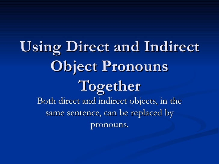 how to find direct and indirect objects in a sentence