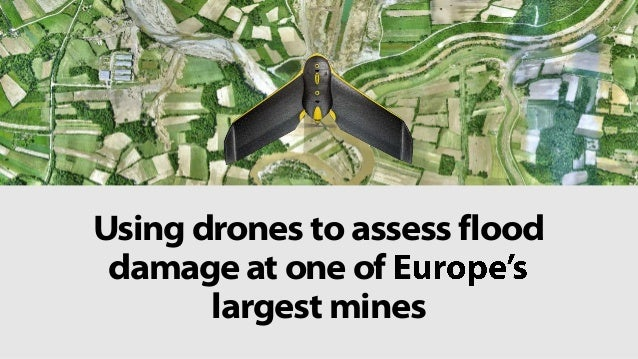 Using drones to assess flood damage at one of largest mines