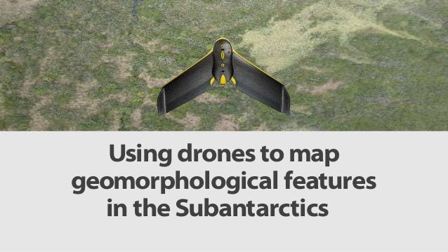 Using drones to map geomorphological features in the Subantarctics