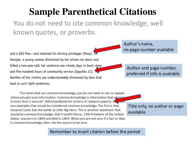 Using easbib to create in-text citations