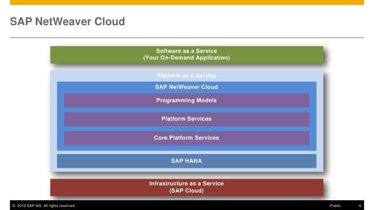 SAP NetWeaver Cloud                                          Software as a Service                                      (Y...