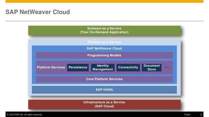 SAP NetWeaver Cloud                                                           Software as a Service                       ...