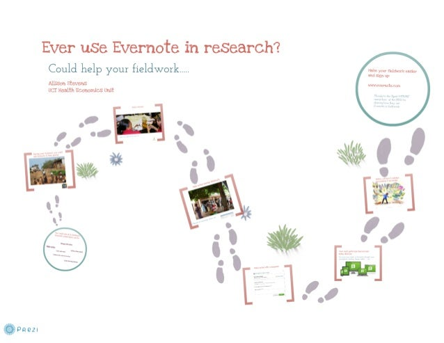 Using evernote in research