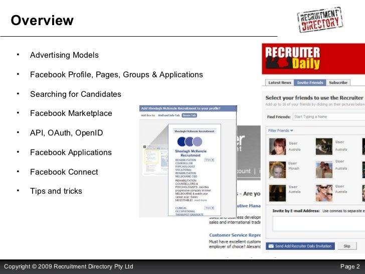 Using Facebook For Recruitment Slide 2