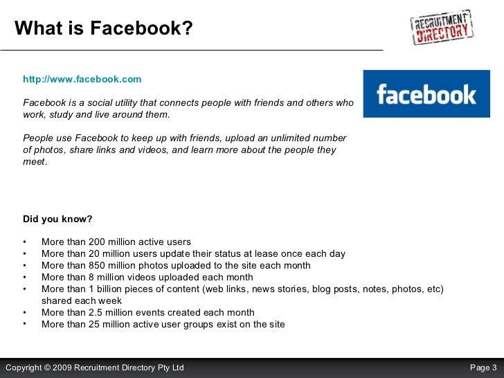 Using Facebook For Recruitment Slide 3