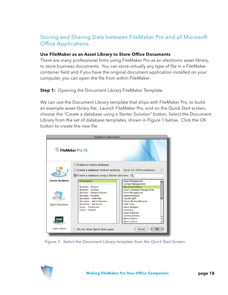 Using File Maker Pro With Microsoft Office